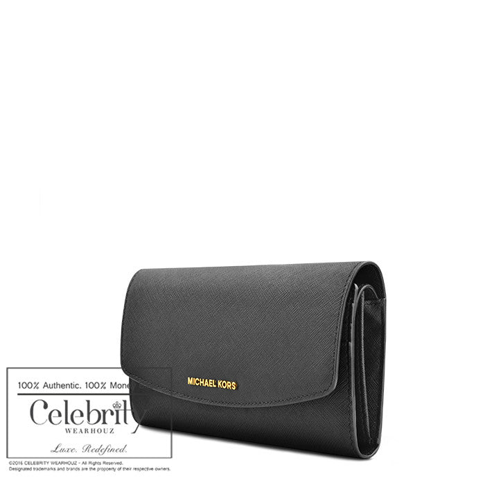 Michael Kors Ava Large Saffiano Leather in Black