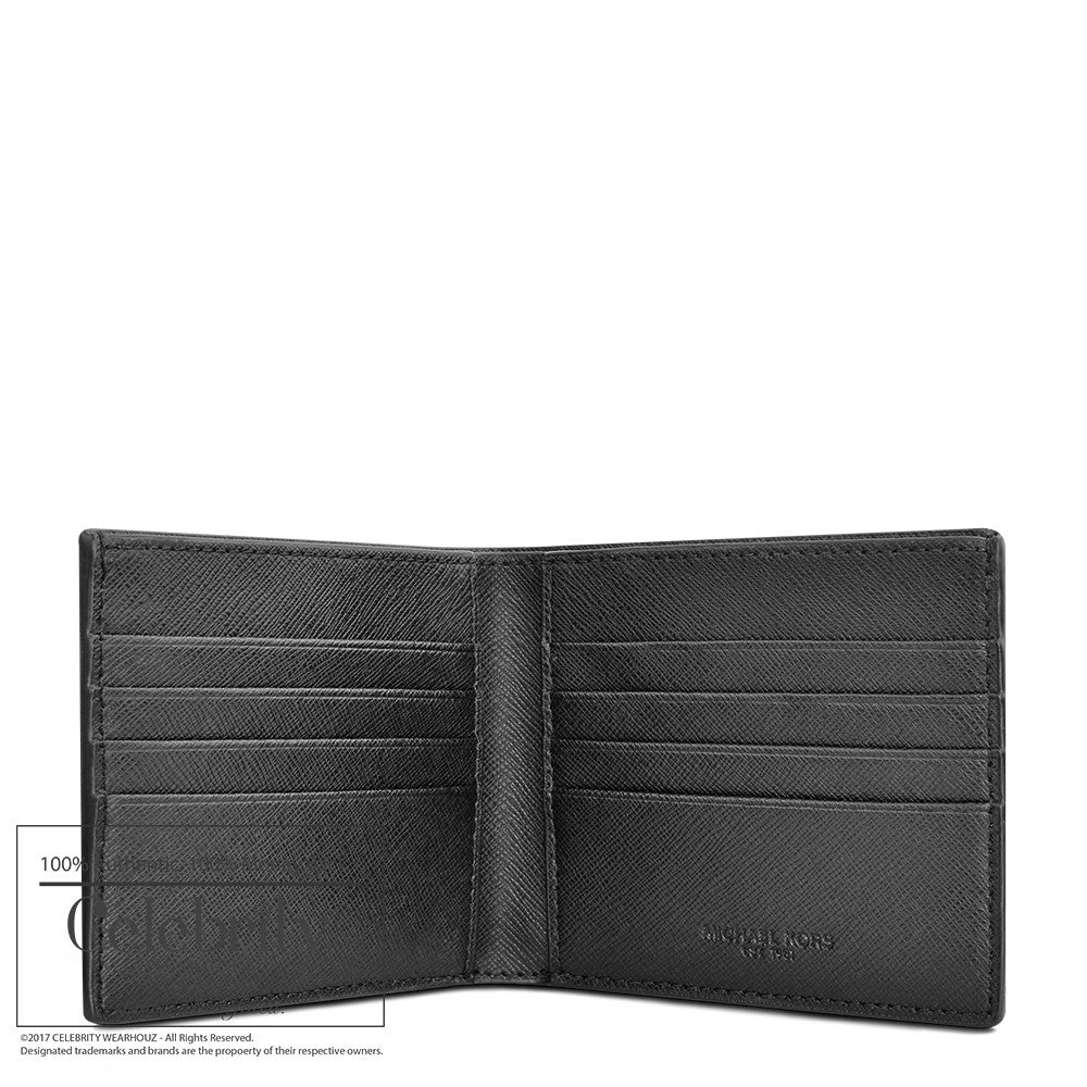 Michael Kors Mens Billfold Andy Leather Wallet in Black