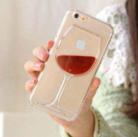 best sneakers acda7 31c8c Red Wine Glass Liquid Transparent iPhone Case - Free + Shipping ...