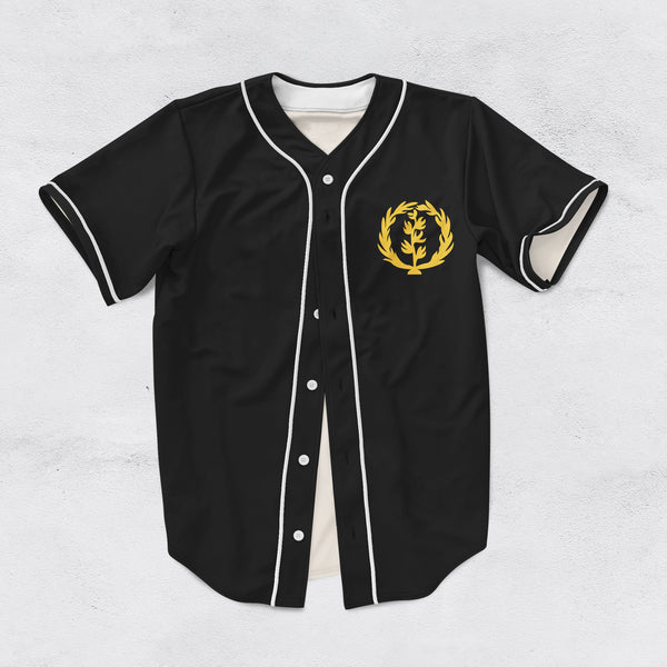 Customise Black and White Eritrea Baseball Jersey
