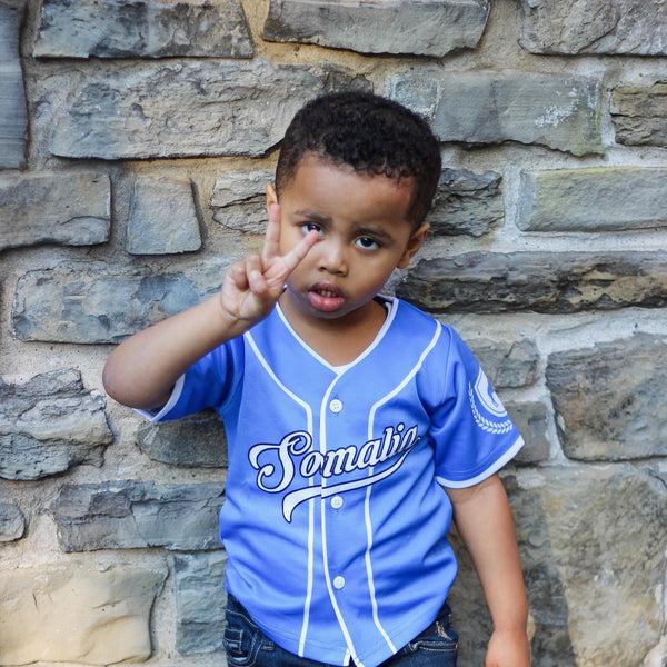 Customize Your Blue Somalia Kids Jersey