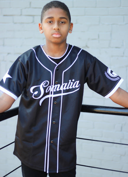 Customize Your Black Somalia Kids Jersey