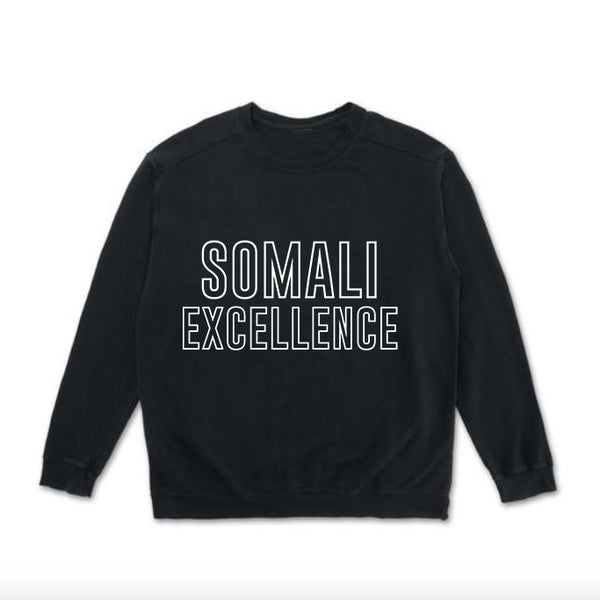 Somali Excellence - Black Crewneck