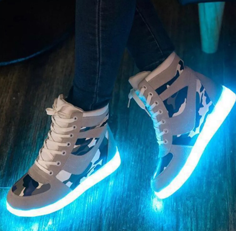 iGlow Camo Sneakers