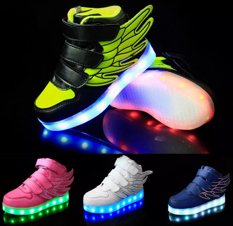 iGlow Kids Sneakers - All That Glitterz Boutique