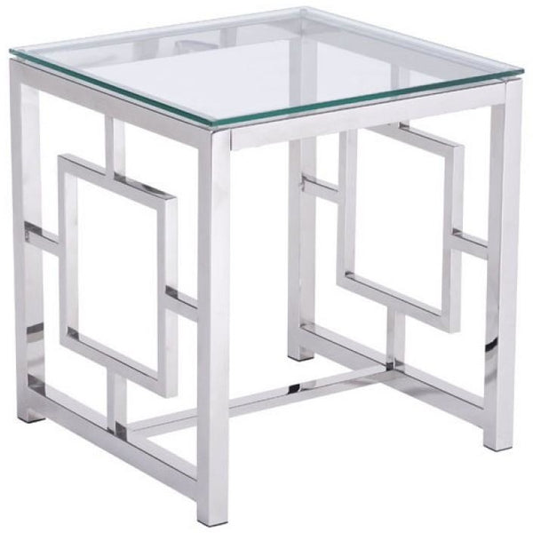 ZUO Modern Geranium Side Table Stainless Steel 100185 Living Side Consoles - Pankour