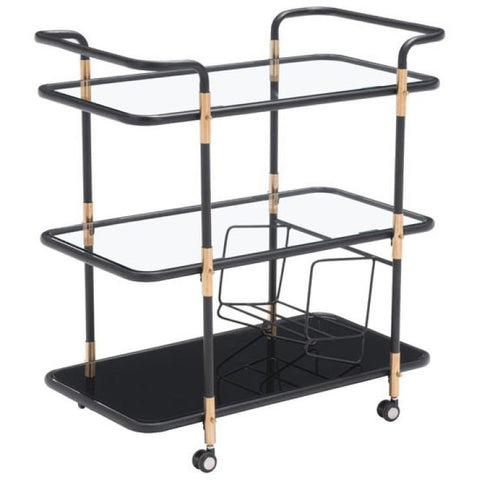 ZUO Modern Secret Serving Cart 100191 Dining,Bar Storage - Pankour