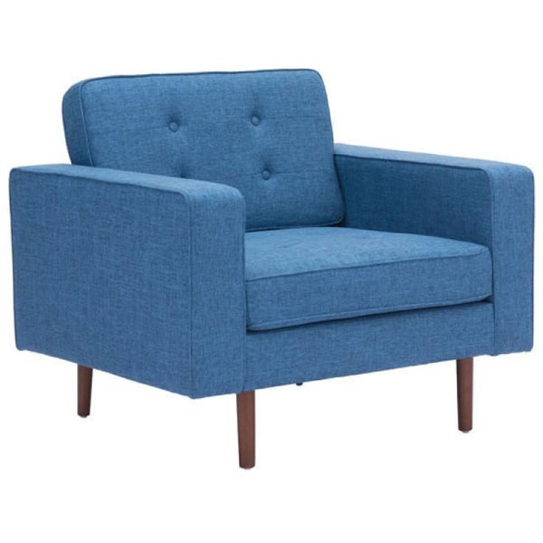 ZUO Modern Puget Arm Chair Blue 100217 Living Chairs - Pankour