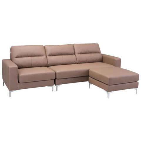 ZUO Modern Versa Sectional Brown 100231 Living Sofas