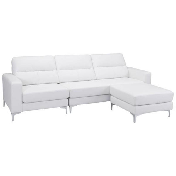 ZUO Modern Versa Sectional White 100233 Living Sofas