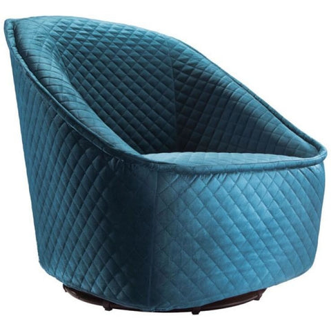 ZUO Modern Pug Swivel Chair Aquamarine 100251 Living Chairs