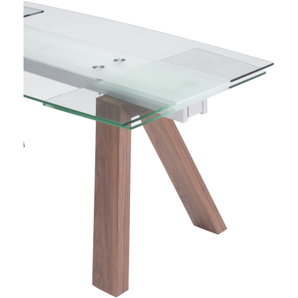 Zuo Modern Walnut Wonder Extension Dining Table