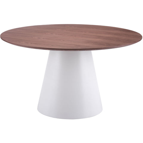 Zuo Modern White & Walnut Query 100271 Dining Table - Pankour