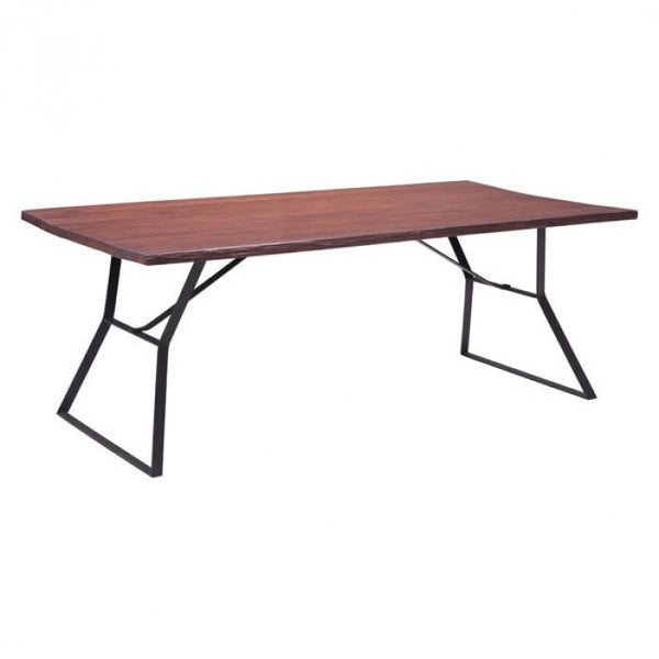 Zuo Modern distressed Cherry Oak Omaha 100428 Dining Table - Pankour