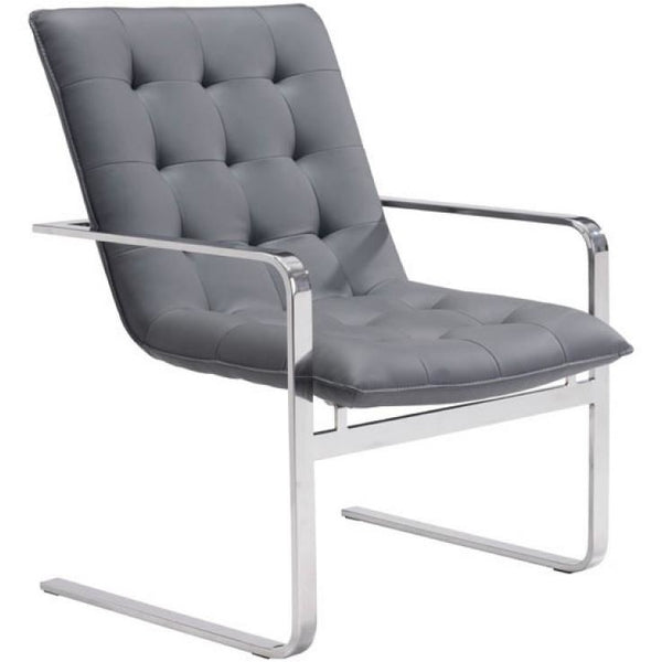 ZUO Modern Solo Occasional Chair Gray 100276 Living Chairs