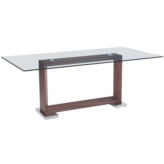 Zuo Modern Walnut Oasis 100288 Dining Table - Pankour