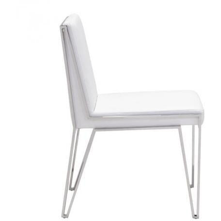 ZUO Modern Kylo Dining Chair White 100334 Dining Chairs/stools (Set of 2) - Pankour
