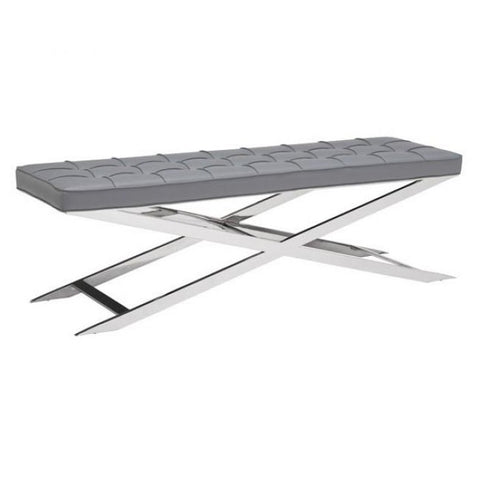 ZUO Modern Pontis Bench Gray 100338 Dining,Bedroom Bench - Pankour