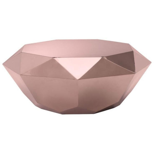 ZUO Modern Gem Coffee Table Rose Gold 100345 Living Side Table - Pankour