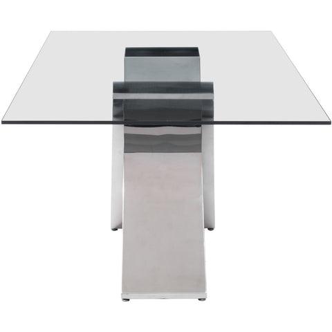 Zuo Modern Chrome Wave 100350 Dining Table - Pankour