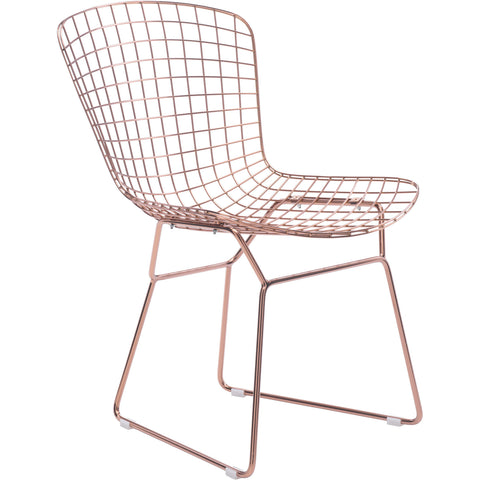 Zuo Modern Rose Gold Wire 100361 Dining Chair - Pankour