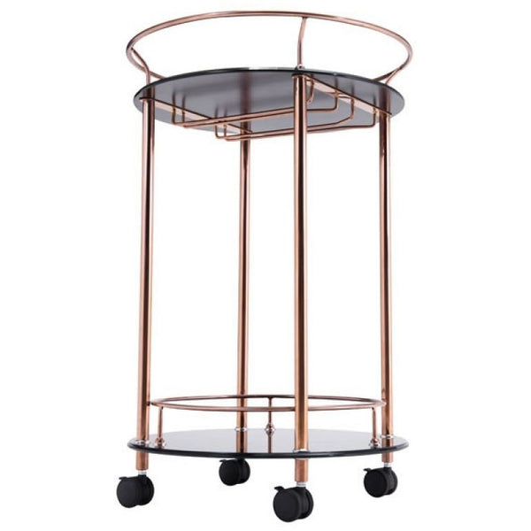 ZUO Modern Plato Serving Cart Rose Gold 100366 Dining,Bar Storage - Pankour