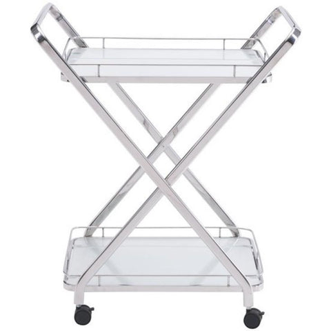 ZUO Modern Vesuvius Serving Cart Stainless Steel 100369 Dining/Bar Storage - Pankour