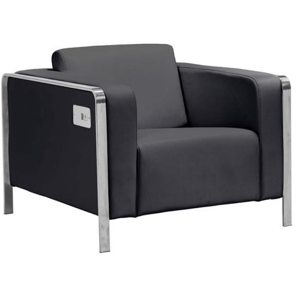 ZUO Modern Thor Arm Chair Black 100385 Living Chairs