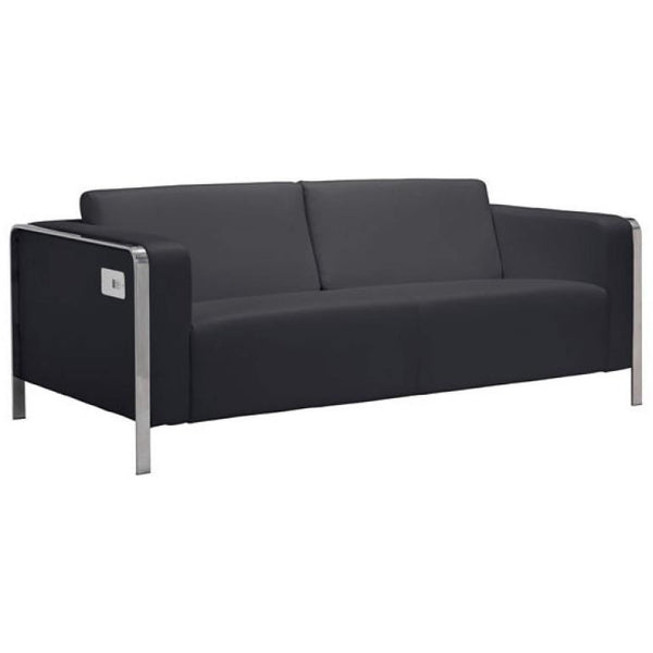 ZUO Modern Thor Sofa Black 100389 Living Chairs