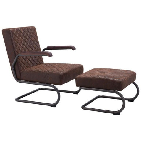 ZUO Modern Father Lounge Chair Vintage Brown 100406 Living Chairs