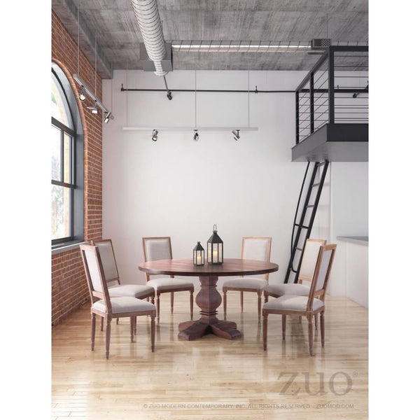 ZUO Modern Hastings Dining Table Distressed Fir 100432 Dining Tables - Pankour