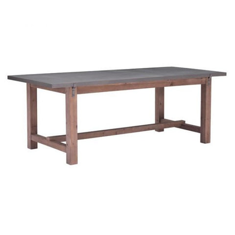 ZUO Modern Greenpoint Gray & Distressed Fir 100501 Dining Tables - Pankour
