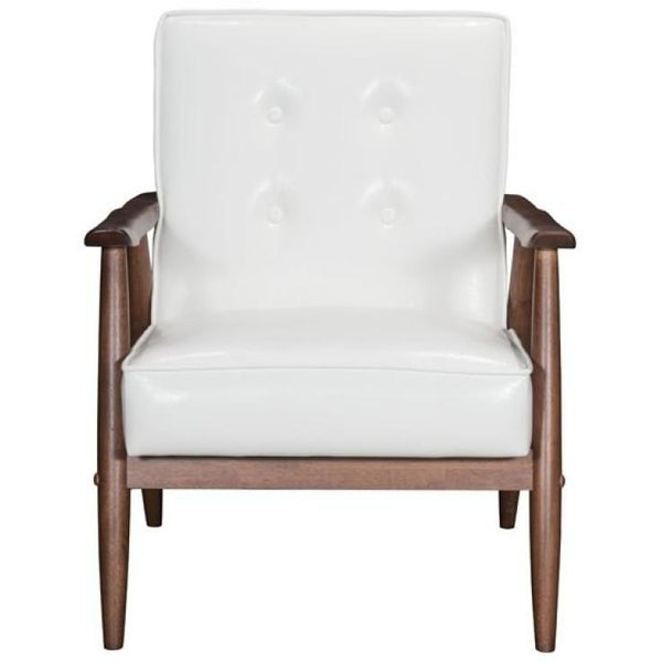 ZUO Modern Rocky Arm Chair White 100529 Living Chairs