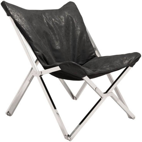 ZUO Modern Sunk Chair Black 100642 Living Chairs