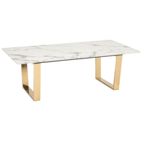 ZUO Modern Atlas Coffee Table Stone & Gold 100653 Living Coffee/Side/Consoles - Pankour