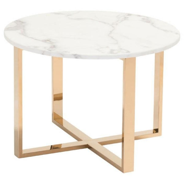ZUO Modern Globe End Table Stone & Gold 100655 Living Table - Pankour
