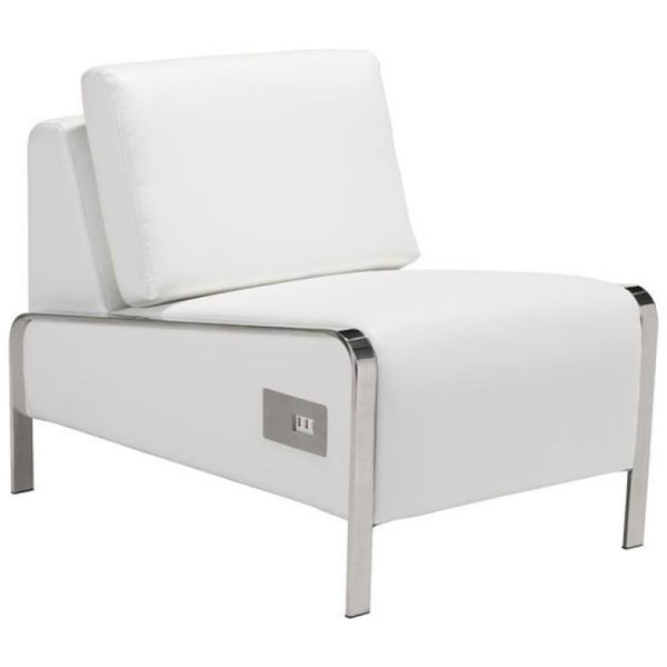 ZUO Modern Thor Armless Chair White 100676 Living Chairs