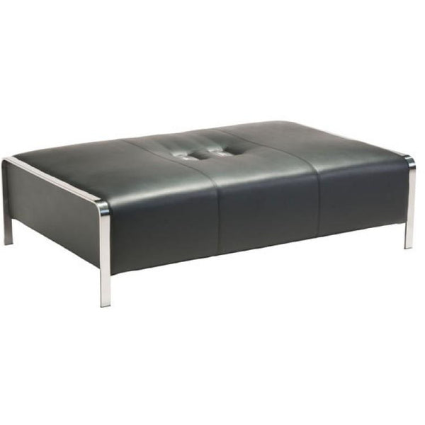 ZUO Modern Thor Ottoman Black 100679 Living Chairs