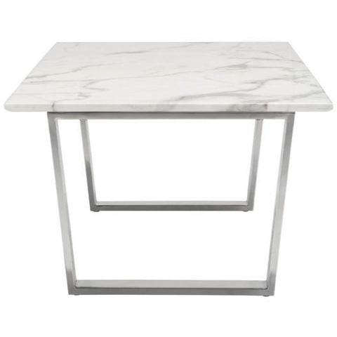ZUO Modern Atlas Coffee Table Stone & Brushed Stainless Steel 100708 Living Coffee/Side/Consoles