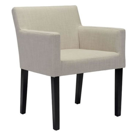 ZUO Modern Franklin Dining Chair Beige 100725 Dining Chairs - Pankour