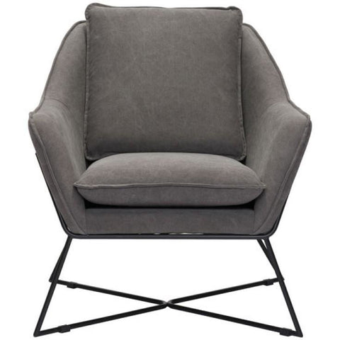 ZUO Modern Lincoln Lounge Chair Gray 100727 Living Chairs