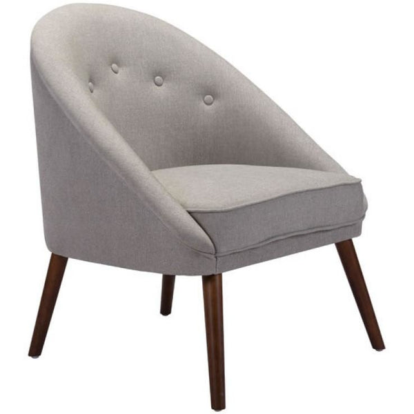 ZUO Modern Carter Occasional Chair Light Gray 100728 Living Chairs - Pankour