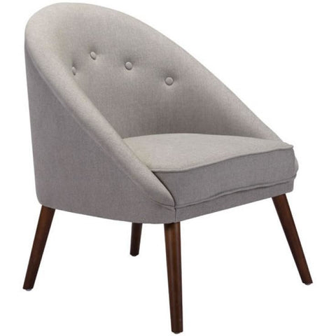 ZUO Modern Carter Occasional Chair Light Gray 100728 Living Chairs