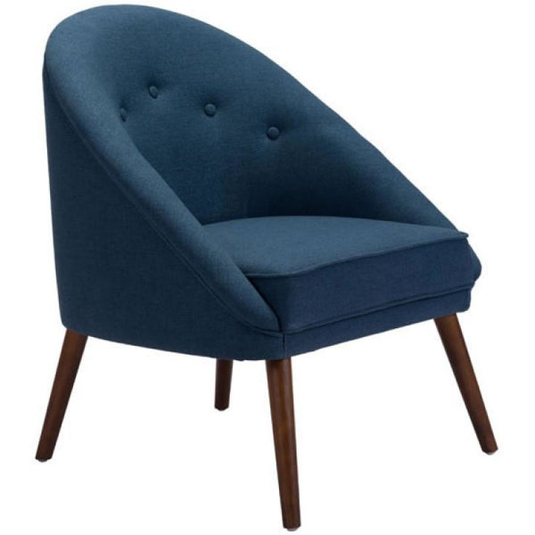 ZUO Modern Carter Occasional Chair Cobalt Blue 100729 Living Chairs - Pankour