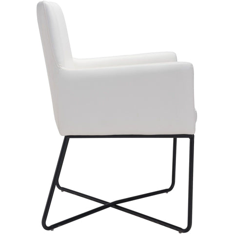 ZUO Modern Axel Lounge 100763 Dining Chair White - Pankour