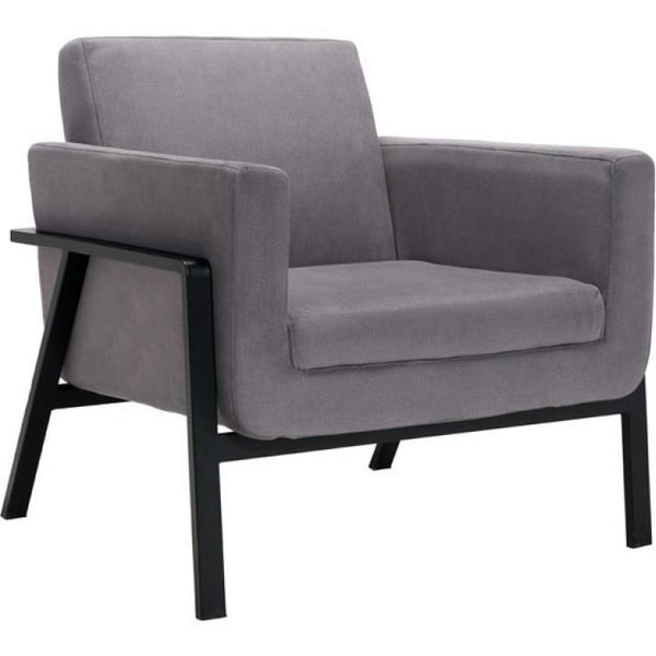 ZUO Modern Homestead Lounge Chair Gray 100765 Living Chairs - Pankour