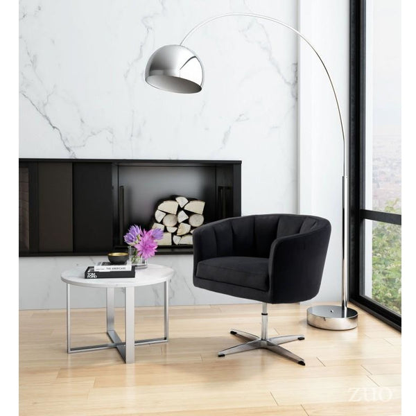 ZUO Modern Wilshire Occasional Chair Black 100768 Living Chairs