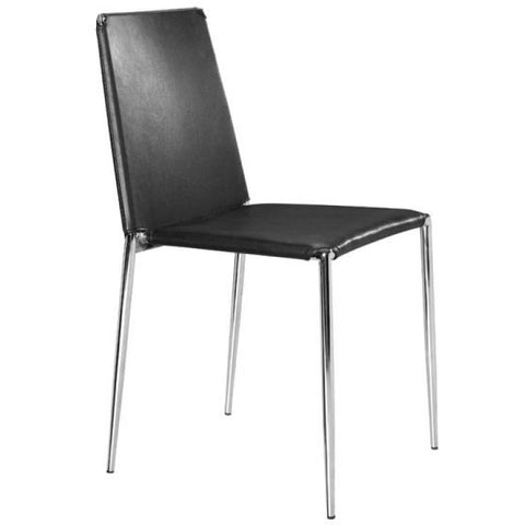 Zuo Modern ALEX DINING 101105 CHAIR BLACK - Pankour