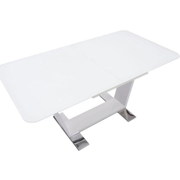 Zuo Modern White St Charles Extension 102130 Dining Table - Pankour