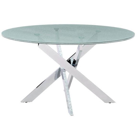 Zuo Modern Chromed Steel Stance 102139 Dining Table
